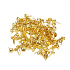 Brads dorados - 6 mm