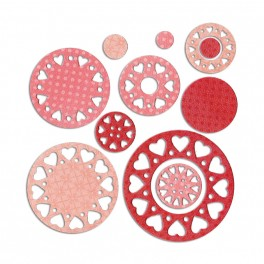 Sizzix Thinlits Die Set 9PK - Doilies, Lovely