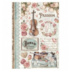 Papel Arroz A4 Passion Music-Stamperia