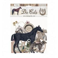 Die Cuts Romantic Horse-Stamperia