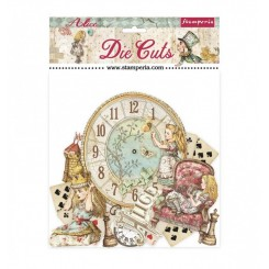 Die cuts Alice through the looking glass-Stamperia