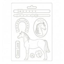 Molde A4 Romantic Horses-Stamperia