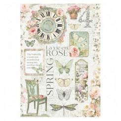Papel Arroz A4 La Vie en Rose-Stamperia