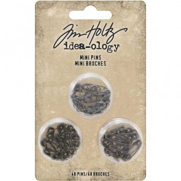 Mini pins metálicos Idea-ology Tim Holtz