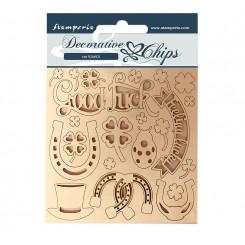 Decorative Chips Romantic Horses- Stamperia
