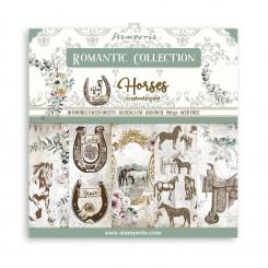 Romantic Horses 8x8-Stamperia