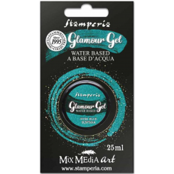 Stamperia Glamour Gel Star Blue-Stamperia