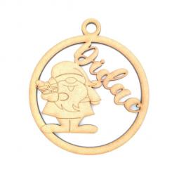 Bola navidad personalizada Reyes Magos 8 cm