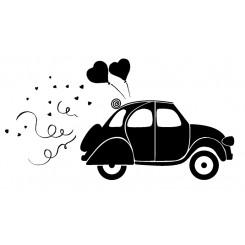 Dos corazones coche