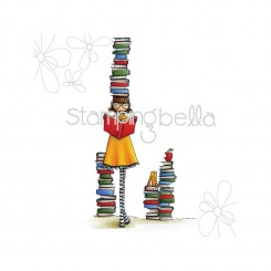 Uptow Girl Betty Loves Books - Stampingbella
