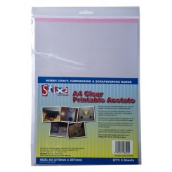 Clear Printable Acetate Sheets