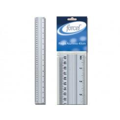 Regla Aluminio 40 cm y en pulgadas