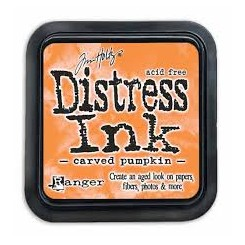 Distress Ink Carved Pumpkin