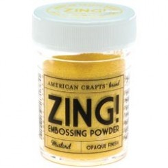 Mostaza Opaco - Polvos Zing! de American Crafts