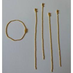 Lote cadena bolitas doradas