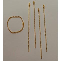 Lote cadena bolitas doradas 2mm